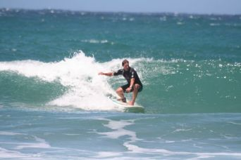 Cathal surfing @ Coffee Bay