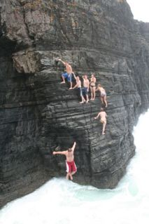 Cathal does cliff jump!
