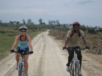 Jane & Guide on Bikes, Cintsa Villages