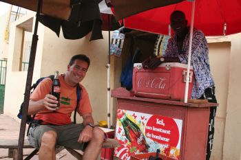 Cathal with Coke seller