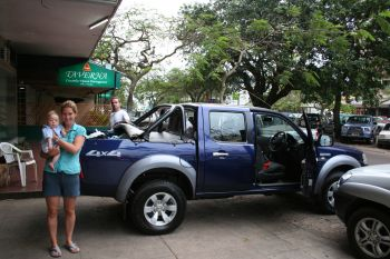 Jane & Fionan with Bakkie