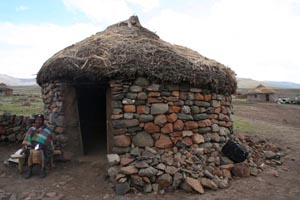 Hut in Lesotho village