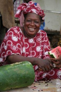 Watermelon saleslady