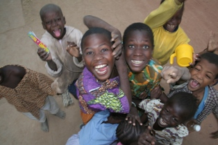 Kids at Djenné