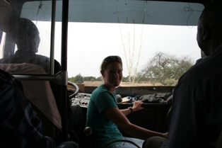 On bus to Ségou