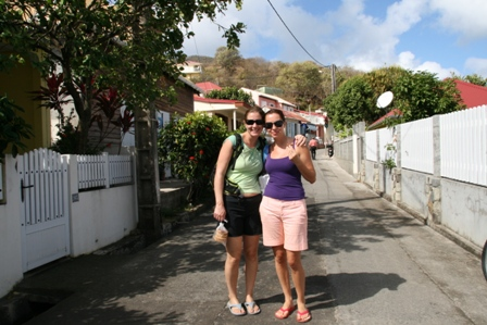 Jane and Monika in Bourg les Saintes