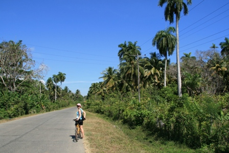 Open tropical road to Playa Maguana