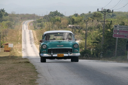 50s car on open road - CDB finally captured it!