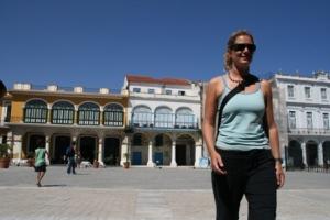 Jane at Plaza Vieja