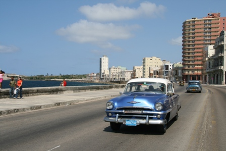 Old car on the Malecon