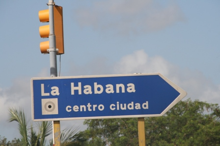 road sign for havana