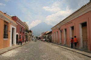 Antigua Street with Aqua in background