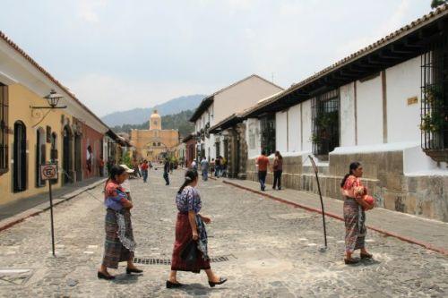 Local ladies in Antigua Street
